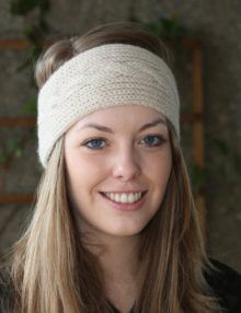 Cable headband knitting pattern