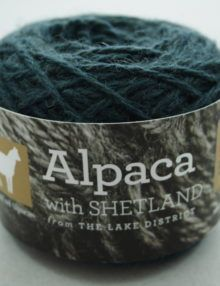 Alpaca aran yarn - dark teal