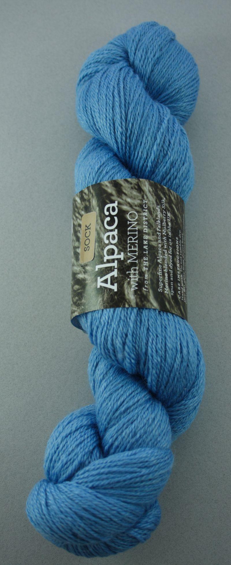 Alpaca sock yarn - harebell
