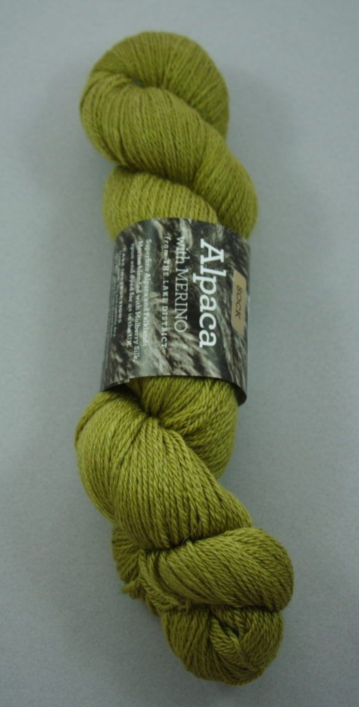 Alpaca Fingeruing yarn - olive lime
