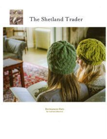 Hermaness beret and beanie hat knitting pattern in 4ply