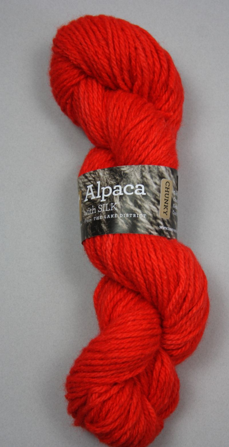 Chunky British alpaca with silk knitting wool