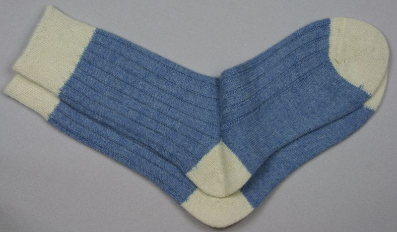Alpaca Bed Socks Pastel Blueberry/Parch