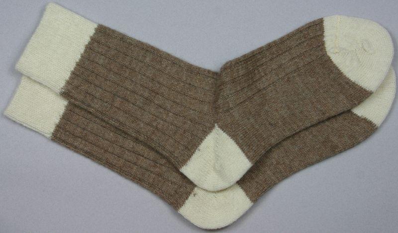 Alpaca Bed Socks Natural Shades Fawn/Parch