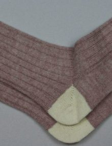 Alpaca Bed Socks Pastel Rasp/Parch