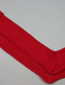 Alpaca Country Socks Red