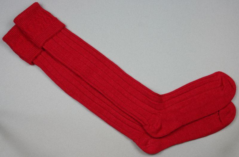 Alpaca Country Socks Red