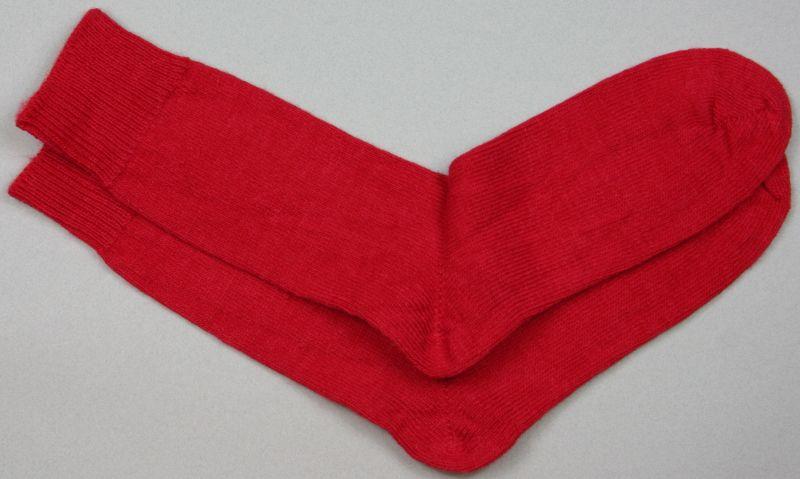 Alpaca Dress Sock Red