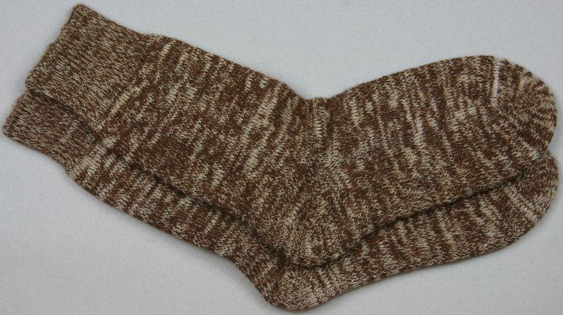 Alpaca Terry Loop Socks Brown Marl