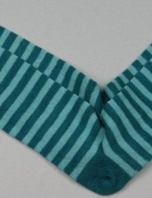 Alpaca Stripy Socks Peacock Sky Blue