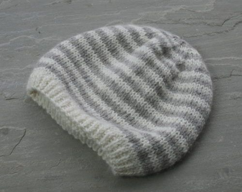 Baby beanie knitting pattern DK