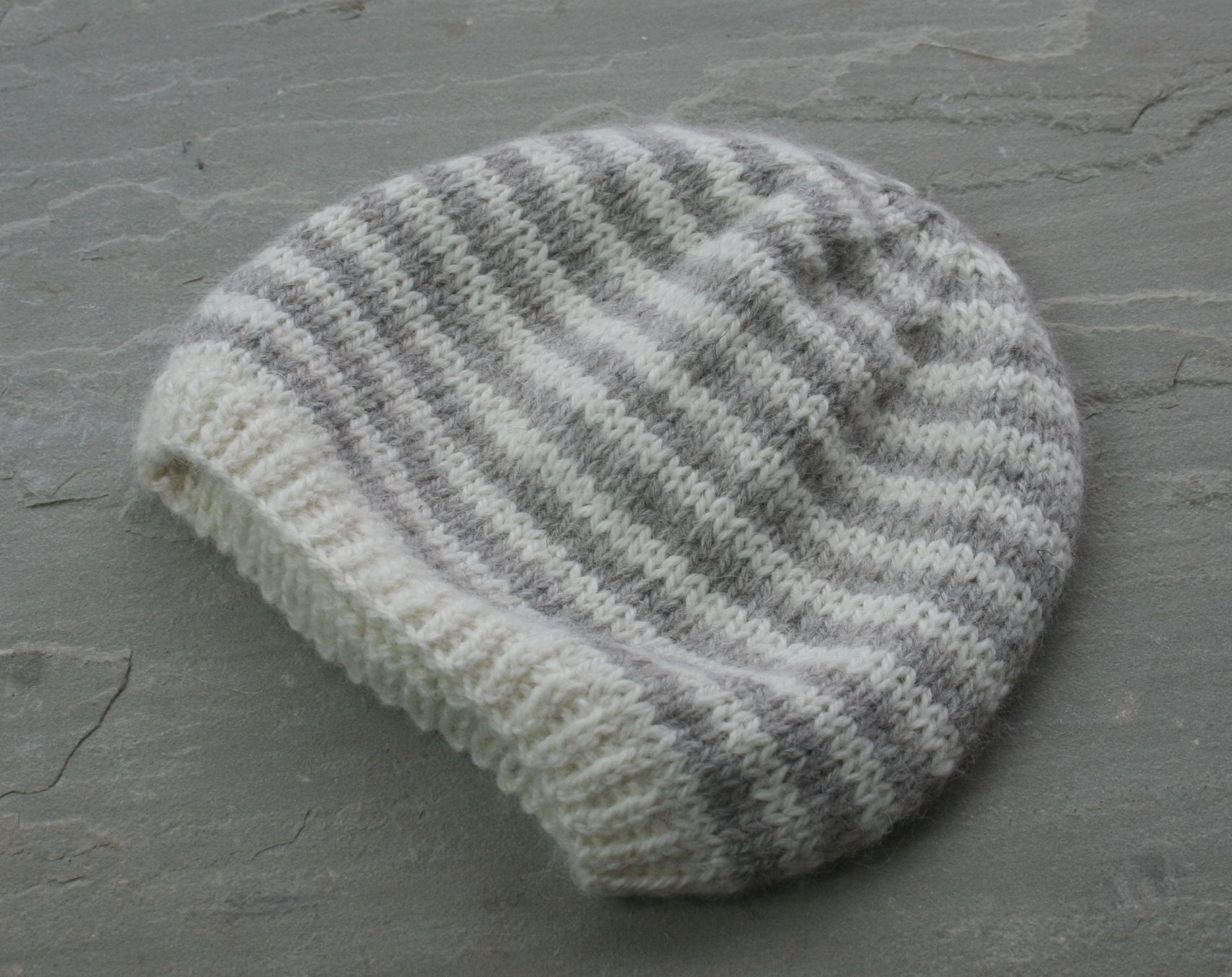 395b02919373d2 Striped Baby Beanie Pattern - Town End Yarns % %