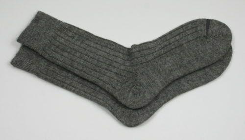 Mid grey alpaca bed sock