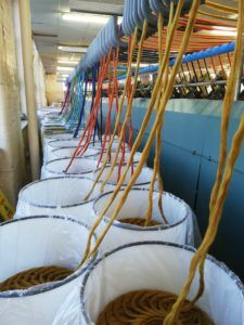 Alpaca tops being spun