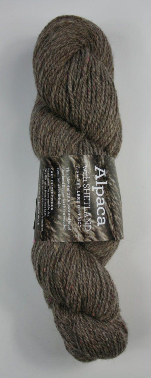 Alpaca Sherland 4ply tweed yarn