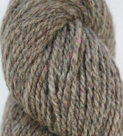 Alpaca with Shetland 4ply tweed - pink nepp
