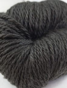 alpaca wool worsted yarn dark grey