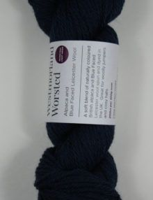 Alpaca wool worsted yarn navy