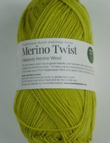 Merino 4ply yarn green yellow