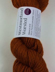 alpaca wool worsted yarn orange