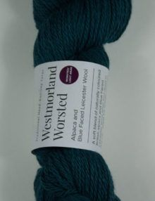 alpaca wool worsted yarn teal