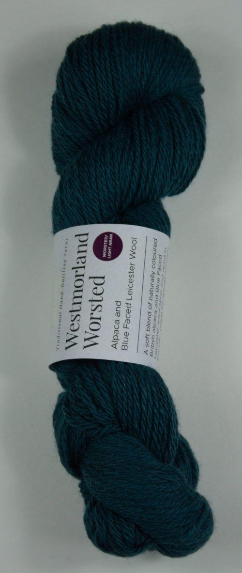 alpaca wool worsted yarn teal