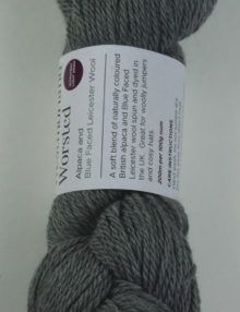 alpaca wool worsted yarn mid grey