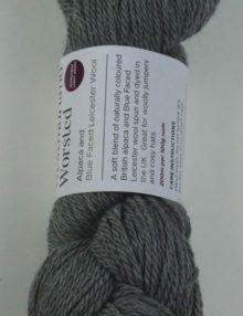 alpaca wool worsted yarn mid grey