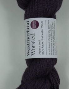 alpaca wool worsted yarn damson