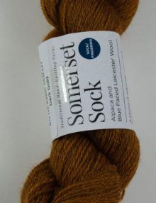 alpaca wool sock yarn gold