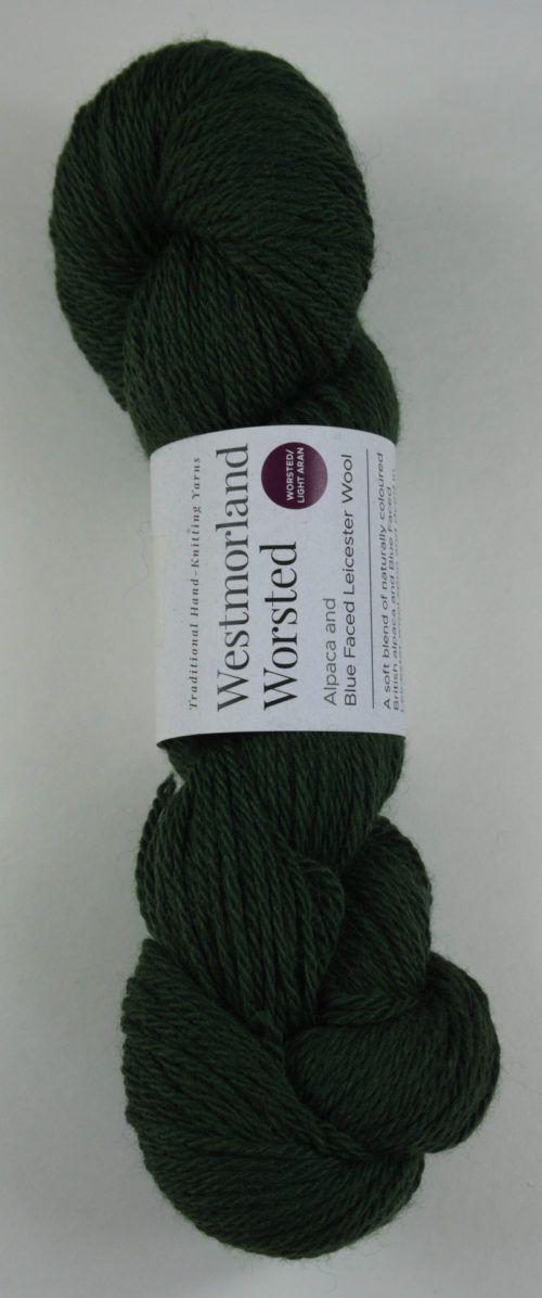 alpaca wool worsted yarn green