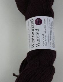 alpaca wool worsted yarn aubergine