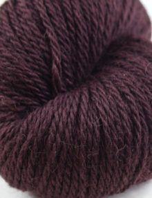 alpaca wool worsted yarn aubergine
