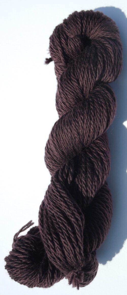 Chunky Merino yarn Aubergine