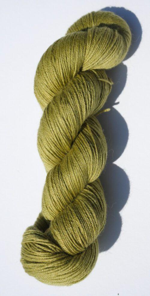 Merino alpaca silk fingering yarn green