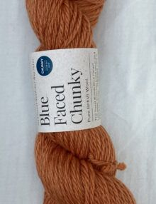 Chunky Blue Faced Leicester knitting wool orange